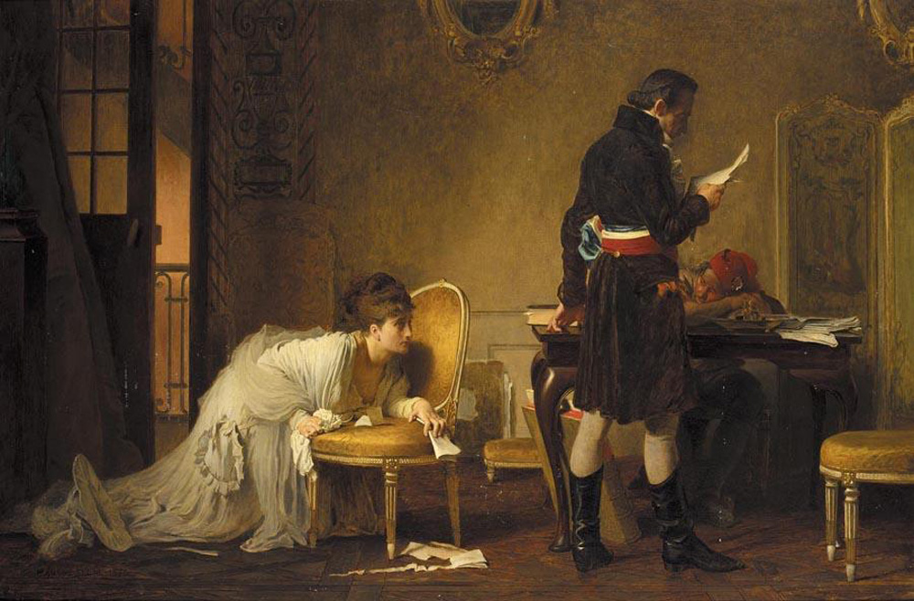 An Appeal for Mercy painting by Marcus Stone (1793 WikiMedia P)