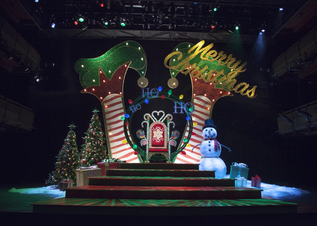 The set of The Santaland Diaries