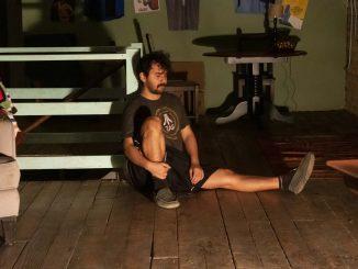 A man sitting