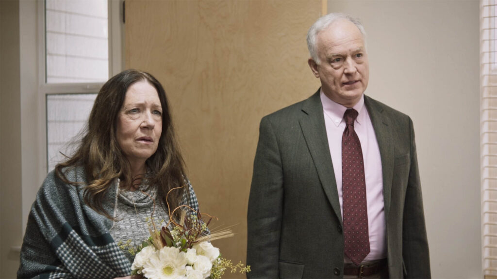 Ann Dowd and Reed Birney in Mass premiering at Sundance Film Festival.